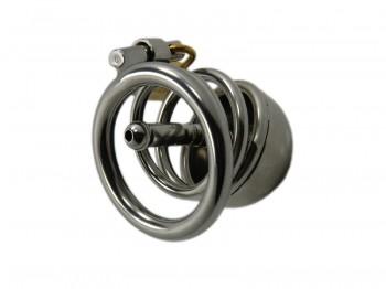 """""""Ring CB Steel"""" kleiner Edelstahl Peniskäfig mit Dilator"""
