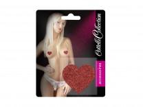 Titty Sticker Herz rot Brustwarzenschmuck
