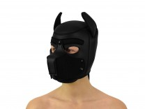 Petplay Neopren Hundemaske Good Puppy schwarz
