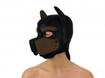 Petplay Neopren Hundemaske Good Puppy schwarz braun