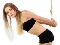 Shibari Strappado Rope Handfesseln mit Leine