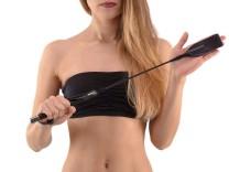 Deluxe BDSM Gerte mit Schlaufen-Spitze 54cm
