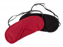 Augenmasken 2er Set rot schwarz aus Baumwolle