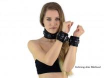 Bondage Handfesseln gepolstert schwarz