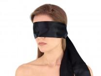 Premium Satin BDSM Augenbinde Schwarz