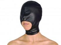 Maske mit offenem Mund und Reißverschluss schwarz