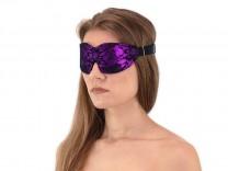 Komfort Augenbinde mit Gummizug Lila-Schwarz
