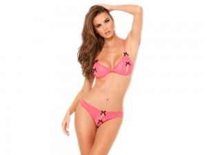 Sexy Dessous Set rosa Gr. M/L