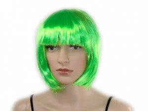 Perücke schulterlang grün bob