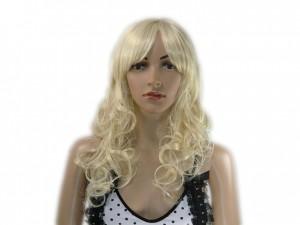 Perücke lang lockig blond