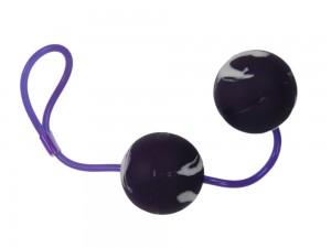 """Liebeskugeln """"Marbilized Duo Balls"""" lila"""