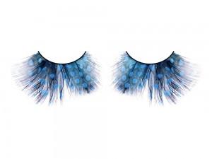 Wimpern aus blau/schwarzen Federn