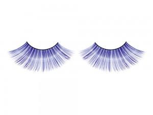 Blaue Wimpern mit Glitter