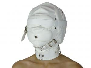 Isolationsmaske Sklaven Maske weiß