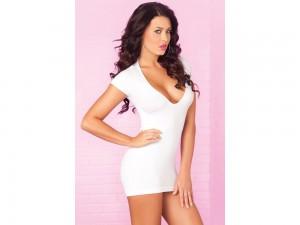 Weißes Partykleid Mini Kleid Gr. M/L