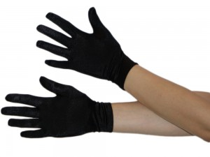 Kurze Handschuhe in schwarz