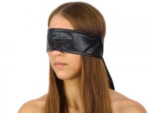 Blindfold Augenbinde Kunstleder Bondage Schal