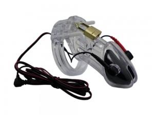 E-Shock Peniskäfig mit Reizstrom-Anschluss