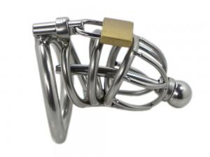 Edelstahl Peniskäfig Anatom S mit Dilator inkl. aller 3 Cockringe