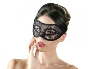Cottelli Collection Spitzen-Augenmaske schwarz
