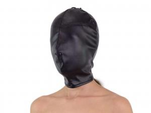 Isolationsmaske - Maske ohne Öffnungen schwarz
