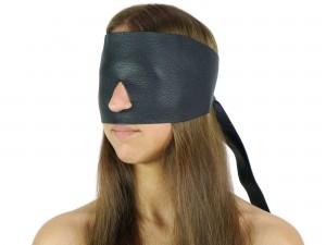 Blindfold Leder Augenbinde mit Nasenloch Lederimitat