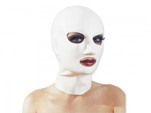 Latex-Kopfmaske weiß