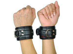 Handfesseln gepolstert und abschließbar schwarz