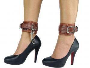Fußfesseln gepolstert und abschließbar braun