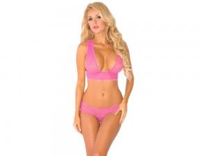 Pinkes Dessous Set BH und Slip