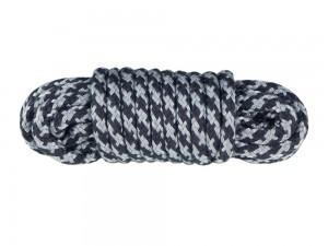 5 m Bondage-Seil Baumwolle schwarz grau