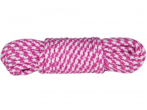 10m Bondage-Seil Baumwolle 2-farbig Pink Weiß