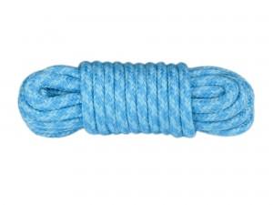 5m Bondage-Seil Baumwolle 2-farbig Babyblau Türkis