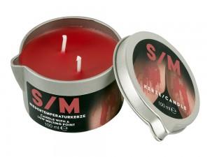 SM Kerze Niedertemperaturkerze im Tiegel 100 g rot