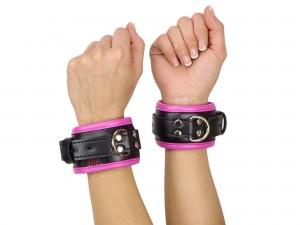 Handfesseln gepolstert und abschließbar schwarz pink