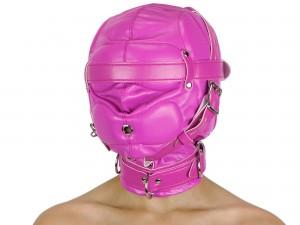 Isolationsmaske ohne Augenlöcher Maske pink