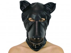 Petplay Hundemaske Teddy Dog schwarz