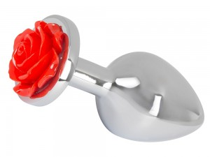 You2Toys Butt Plug mit roter Rose 34mm
