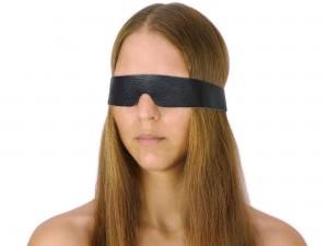 Schmale Augenbinde Echtleder