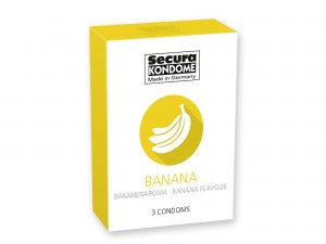 Secura Banana Kondome 3er