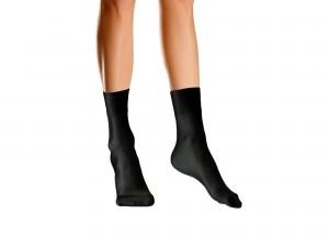 Schwarze Nylon Socken BW699