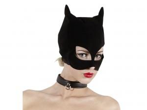 Bad Kitty schwarze Katzenmaske Nubuklederoptik