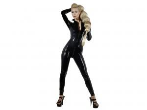 Latex Catsuit schwarz