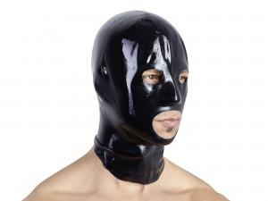 Anatomische Latex-Kopfmaske für Männer schwarz Gr. L/XL