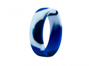 Performance Silikon Camo-Blau Cock Ring