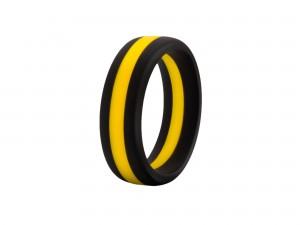 Performance Silikon Go Pro schwarz/gelb Cock Ring