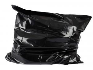 PVC Orgy Kissenbezug schwarz 80 x 80 cm