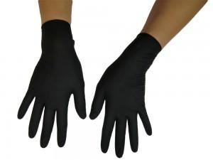 20 LATEX Handschuhe schwarz kurz Gr. S, M und L
