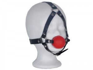 Harness Mund-Knebel mit Ball rot