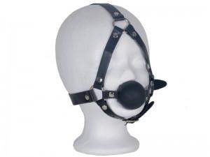 Harness Mund-Knebel mit Ball schwarz